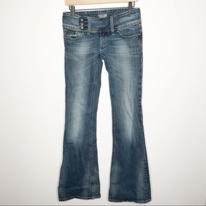 Rerock for Express Y2K Flare Low Rise Jeans Size 2